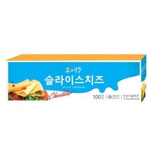 소와나무 슬라이스 치즈 1.8kg (100매) /체다치즈