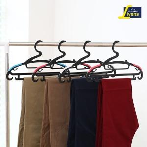 논슬립바지걸이겸용옷걸이50개(블랙)