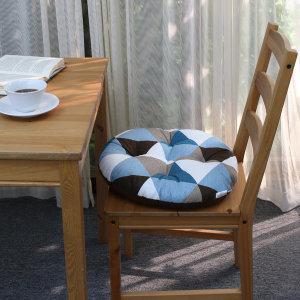 큐브 원형 빵빵이 방석/학생 사무실 의자 푹신 /블루