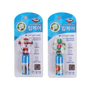 헬로카봇 피규어 립케어 랜덤 3개/립밤/입술보습