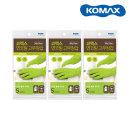 보온라텍스/코멕스 면코팅 고무장갑(그린S소 x 3P)