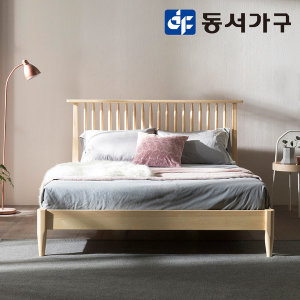 로렌  원목 침대 퀸 내츄럴_3D7존독립
