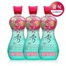 샤프란 꽃담초수 섬유유연제 연꽃 1.3L 3개