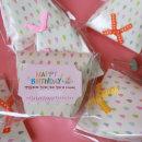 여아생일선물 포장스티커셋트 아동집게핀 축하스티커