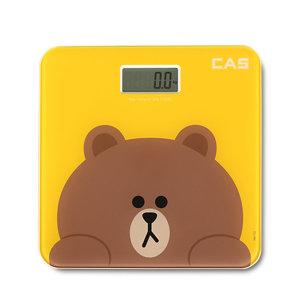 카스 디지털 체중계 라인프렌즈브라운 몸무게 측정기