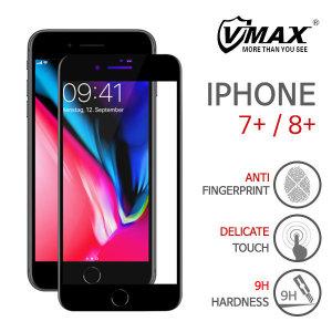 아이폰7+/8+ 액정보호필름|풀커버 5D 강화유리(블랙)