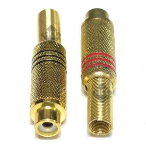 C267 RCA 암 제작형 플러그 젠더 커넥터 짹 단자핀 잭