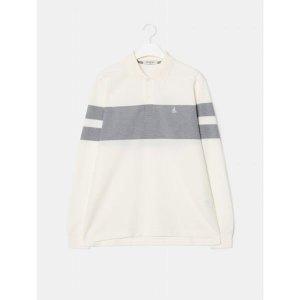 빈폴  아이보리 컬러 블록 피케 칼라 티셔츠 (BC9741A110)