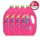 기분좋은향기 샤프란 섬유유연제 핑크 3.1L 4개