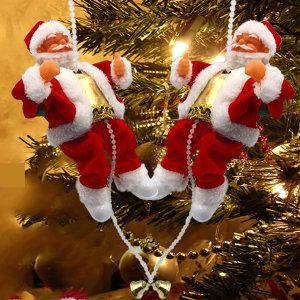 신발에  LED장착 줄타는 멜로디산타/크리스마스장식/