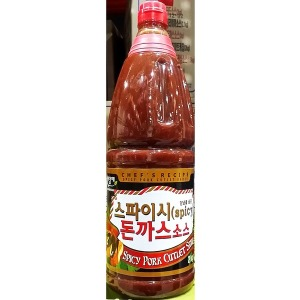 미담채 스파이시 돈까스소스 2Kg/캔/매운돈까스소스