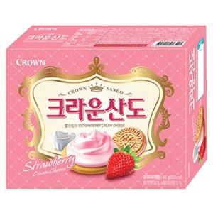 크라운산도 딸기크림치즈 161g/산도/과자/초코파이