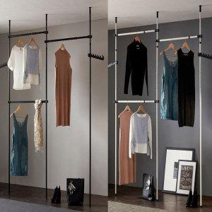 하이라인 너비조절 3단 옷걸이행거 드레스룸