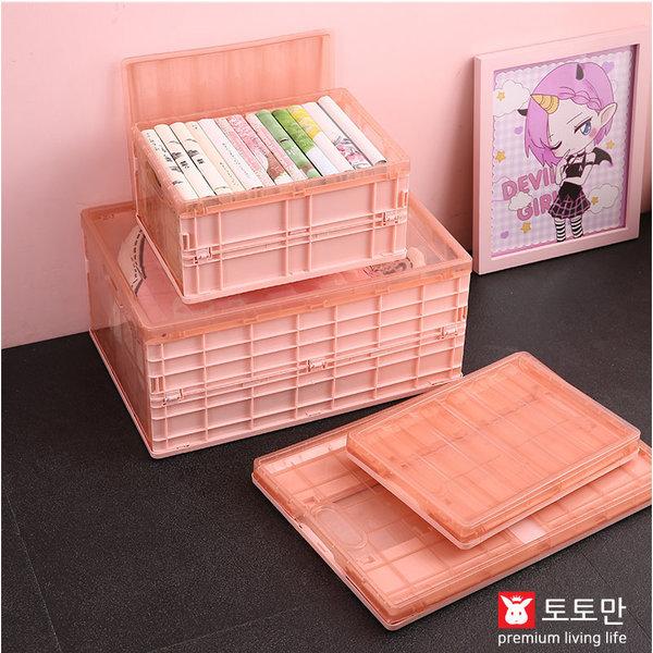 접이식 폴딩박스/플라스틱 정리함/리빙박스/소형