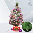 1m 트리 핑크 파인 크리스마스트리 풀세트 전구포함