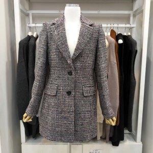 샤트렌  패션아일랜드 모직체크배색재킷HC8WJK103