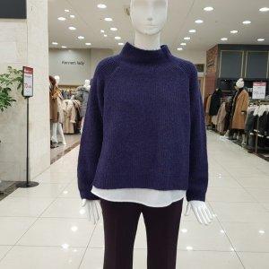 더아이잗  모다아울렛 셔츠배색 절개니트(IJCM1PO82-820)