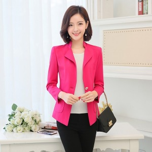여자모피 봄여름 여자외투 양복 슬림핏 정장