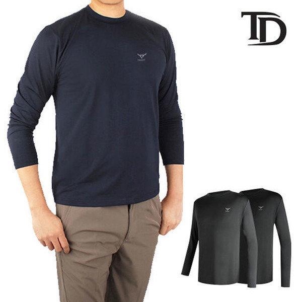 골프웨어 남성 기모 라운드 이너웨어 티셔츠