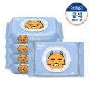 카카오수앤수물티슈라이언 캡80매5개/화장지/휴지