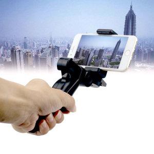 아이폰 갤럭시 스마트폰 삼각대 그립 손잡이 거치대