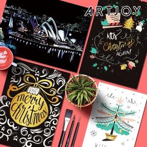 (3+1) 아트조이 DIY 스크래치나이트뷰 성탄절 에디션