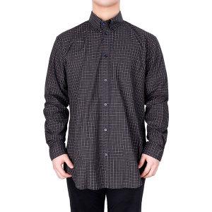 19FW 블랙 로고 체크 노멀핏 셔츠 556878 TCM02 3258