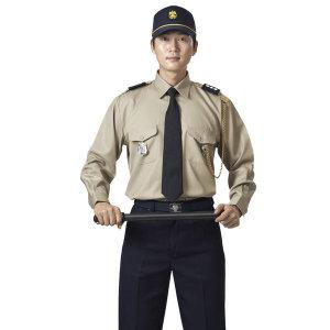 M-KSK-25-1 남성 추동 경비복 상의 베이지 상의 하의