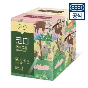 코디 에코그린 미용티슈 180매 6입/각티슈/화장지biz