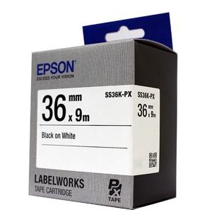 엡손 정품라벨테이프 SS36K 36mm 9미터 흰색바탕검정