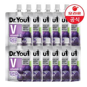 오리온 닥터유 젤리 포도맛 140g 2박스(12개)