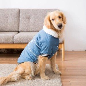 (해외배송) 강아지 애견 겨울 자켓 조끼 점퍼 대형견