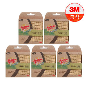 (현대Hmall) 3M 내츄럴 아크릴 수세미 1입(일반세척용) 5개세트