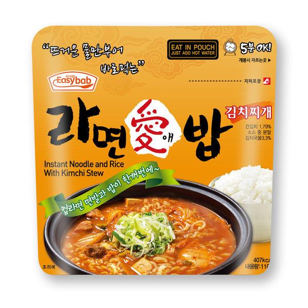 라면애밥 김치찌개 전투식량 비상식량 라면밥