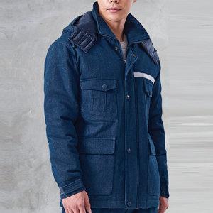 청지워싱 청패딩 점퍼 작업복 단체복 근무복 방한복