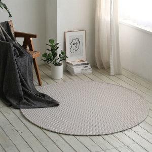 사계절 헤링본 원형 러그 170cm 안마의자/거실/침실용