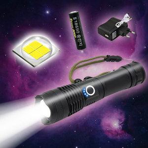 XHP 50.2 LED 충전식 3600루멘 후레쉬 잔량표시 겸용
