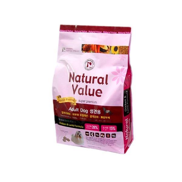 강아지사료 개밥 내츄럴벨류 알러지용 어덜트 1.5kg