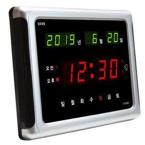 CMOS 디지털 벽시계  T009R 기본형  전자 시계 LED