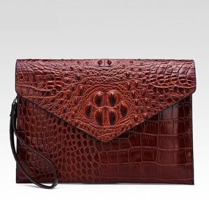 악어무늬가죽 대형맨스백 클러치백 손가방 수공예가방