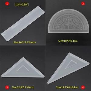 미라클 실리콘 몰드 삼각자 각도기 모양 UV 레진 공예