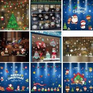아이방 유리 창문 스티커 산타 크리스마스 겨울 장식