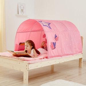 벙커 벙커형 낮은 침대 커튼 텐트 초등 여아 남자아이