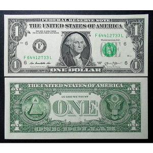 미국 초대 대통령 워싱턴 1달러 2013년 미사용 지폐