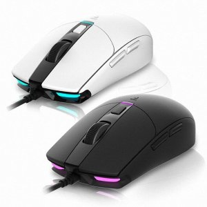 ABKO HACKER A250 3050 RGB 게이밍 마우스 (화이트)