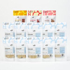 기능성 강아지간식 치카껌 클로렐라스틱 10팩+간식3종