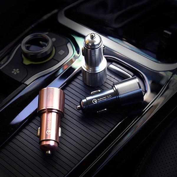프린텍 퀄컴3.0 차량용 고속충전기 1포트 /메탈그레이
