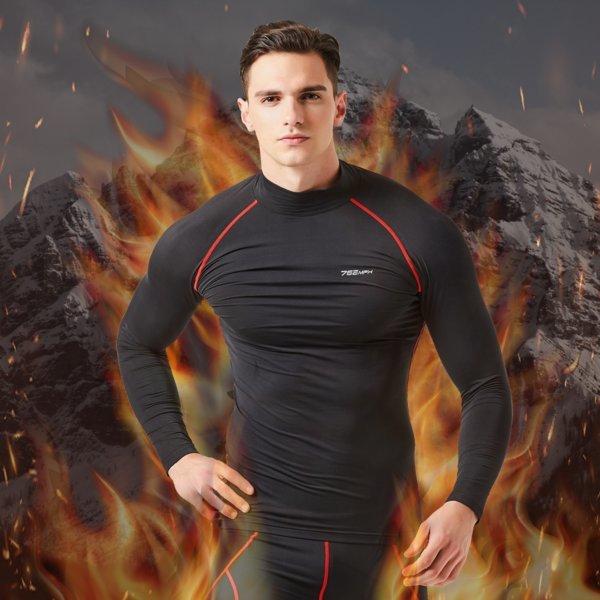기능성 스포츠이너웨어 겨울 기모 발열 터틀넥 셔츠