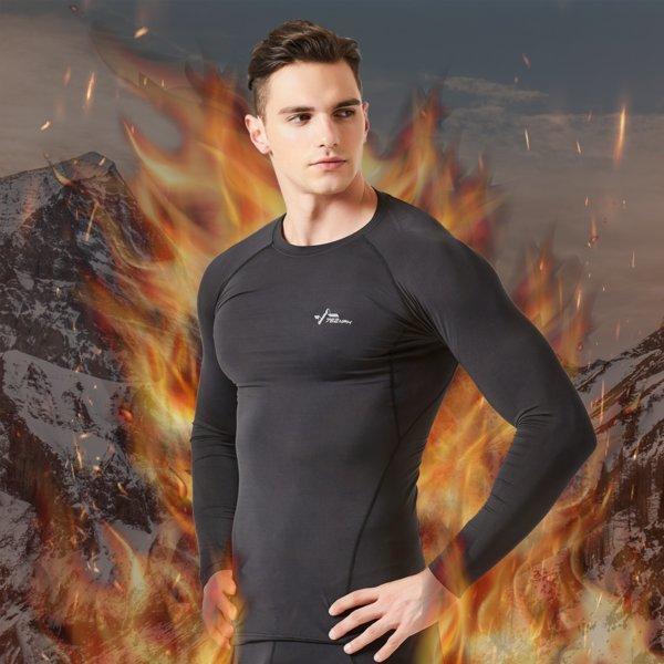 기능성 스포츠 이너웨어 겨울 기모 발열 라운드 셔츠