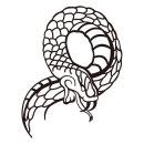스네이크 차량용 뱀 데칼 본넷 스티커